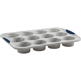 STRUCTURE SILICONE 12CT MUFFIN PAN MARBLE