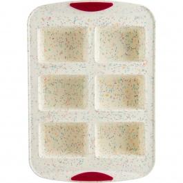 6ct Mini Loaf Pan Confetti Fucshia