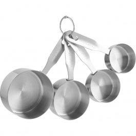 SET OF 4 STAINLESS STEEL MEASURING CUPS