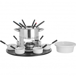 LAILA 3-IN-1 FONDUE SET WITH ROTATING TRAY