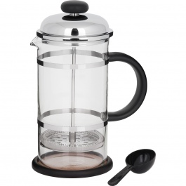 BLACK AND CHROME COFFEE PRESS 34OZ