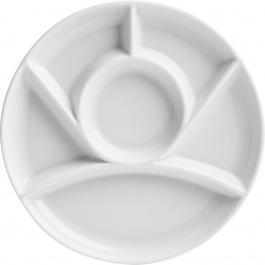 SET OF 4 ROUND FONDUE PLATES