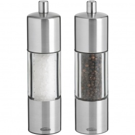 "7.5"" ADAGIO STAINLESS STEEL PEPPERMILL & SALT MILL"