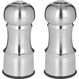 "4.5"" SALT & PEPPER SHAKERS STAINLESS STEEL FINISH"