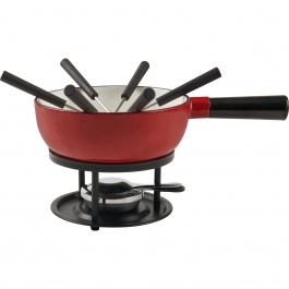 Cast Iron Cheese Fondu Set - 10 pieces