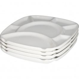 SET OF 4 SQUARE FONDUE PLATES