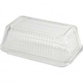 Linea Glass Butter Dish W/lid - Gift Box