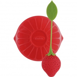 SILICONE TEA INFUSER WITH LID