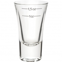 DUBLINO SHOT GLASS WITH MEASUREMENTS - 2 OZ