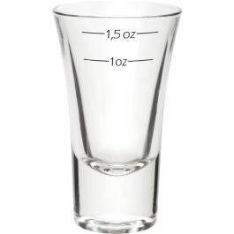 DUBLINO SHOT GLASS WITH MEASUREMENTS - 2 OZ
