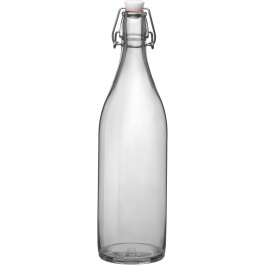 GIARA CLEAR BOTTLE WITH STOPPER - 33.75 OZ