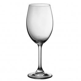 SET OF 6 SERENE WHITE WINE GLASSES - 9 OZ