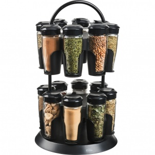 Trudeau 16 BOTTLE TOWER SPICE CAROUSEL