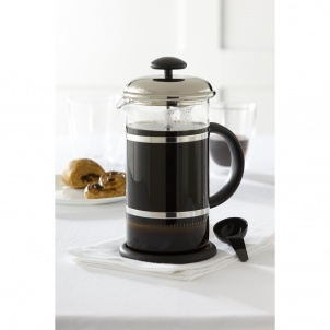 Trudeau BLACK AND CHROME COFFEE PRESS 34OZ
