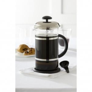 Trudeau BLACK AND CHROME COFFEE PRESS 34OZ