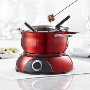 Trudeau Scarlet 3-in-1 Electric Fondue Set