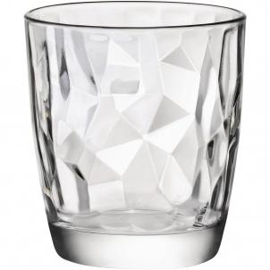 Trudeau Diamond Dof Glasses 13oz Bx/4 - Bormioli Rocco