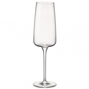 Trudeau Planeo Champagne Flutes 8.75oz Bx/4 - Bormioli Rocco