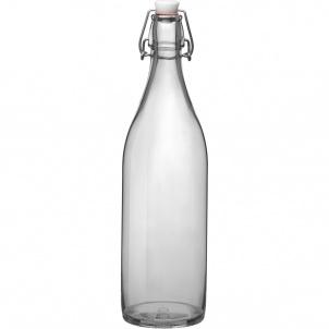 Trudeau Bormioli Rocco Giara Glass bottle 33-3/4 oz clear