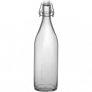 Trudeau Bormioli Rocco Giara Glass bottle 33-3/4 oz clear
