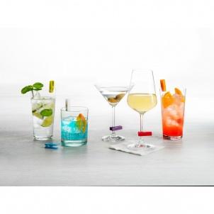 SET OF 6 GLASS CHARMS