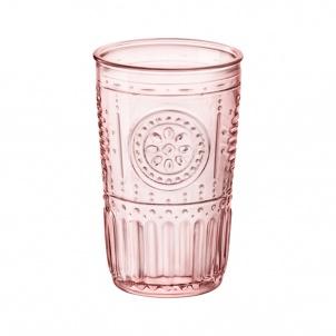 Romantic Pink Cooler Glasses 16oz Bx/4 - Bormioli Rocco