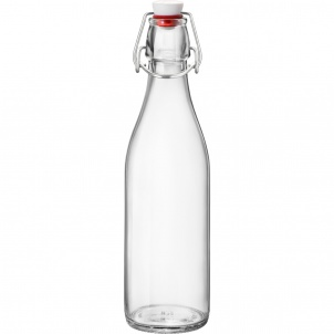 GIARA CLEAR BOTTLE WITH STOPPER - 17 OZ