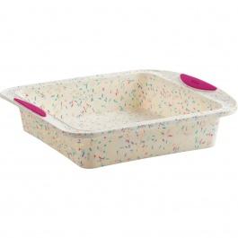 Moule à gâteau carré Structure Silicone™ Confetti Blanc