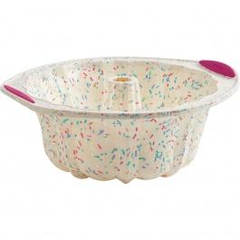 Moule à gâteau cannelé Structure Silicone™ Confetti Blanc