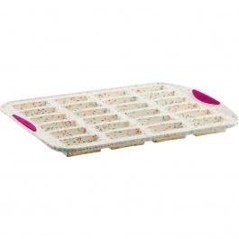 Moule à 24 financiers Structure Silicone™ Confetti Blanc