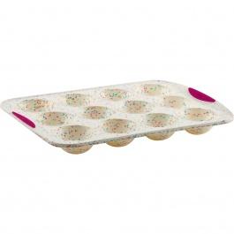 Moule à 12 gâteaux demi-sphères Structure Silicone™ Confetti Blanc