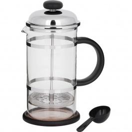 Cafetière à piston en noir et chromé 1L
