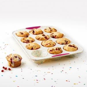 Trudeau Moule à 12 muffins Structure Silicone™ Confetti Blanc