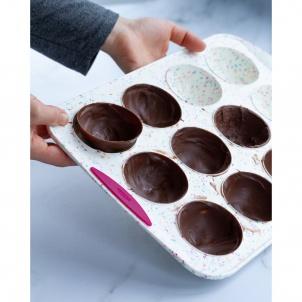 Trudeau Moule à 12 gâteaux demi-sphères Structure Silicone™ Confetti Blanc