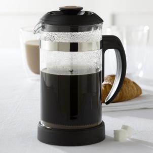 Trudeau Cafetière à piston noir et brun 1L
