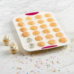 Moule à 24 mini muffins Structure Silicone™ Confetti Blanc