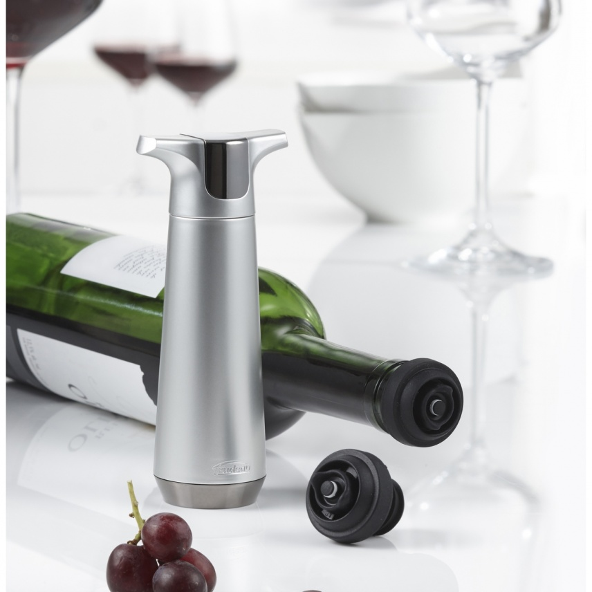 WINE PUMP WITH 2 STOPPERS