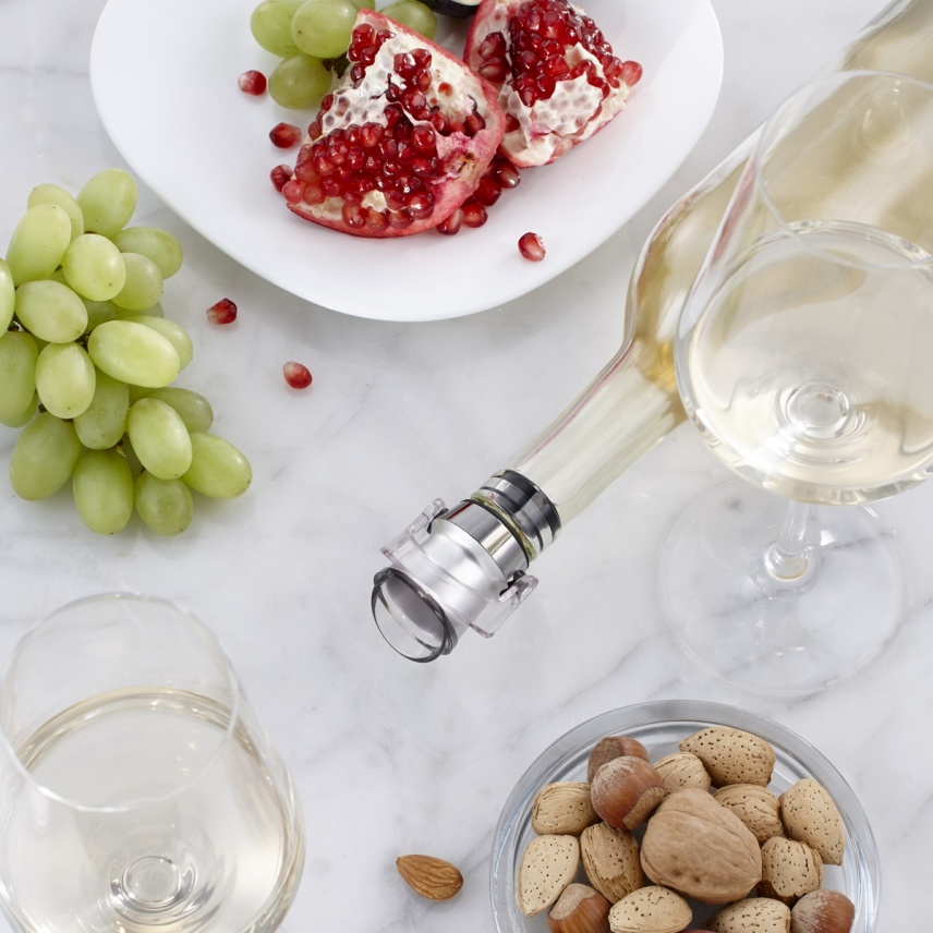 WINE POURER AND STOPPER