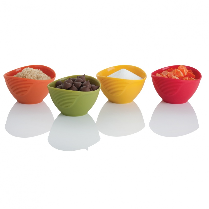 Set of 4 Silicone Pinch Bowls