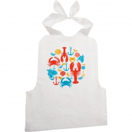 SET OF 4 DISPOSABLE SEAFOOD BIBS