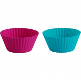 St/24 Mini Muffin Cups Fuchsia/tropical