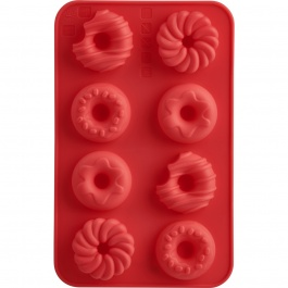 St/2 Donut Choco Molds Coral