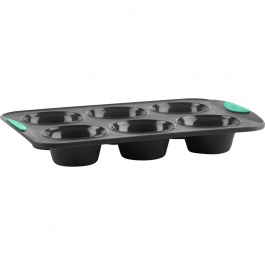 STRUCTURE SILICONE 6CT JUMBO MUFFIN PAN MINT