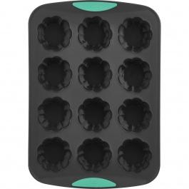 12ct Flower Cupcake Pan Mint