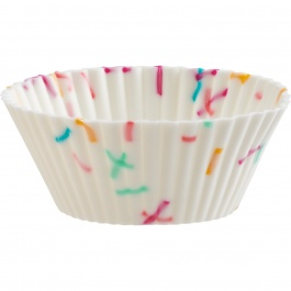 St/24 Mini Muffin Cups Confetti