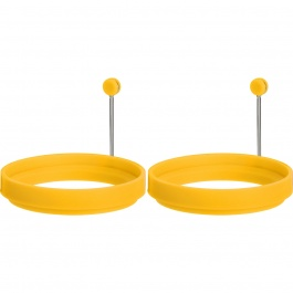 SET OF 2 SILICONE DUAL SIDED EGG RINGS