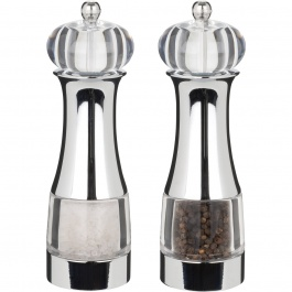 "7"" Malia Pepper Mill & Salt Mill 4/cdu"