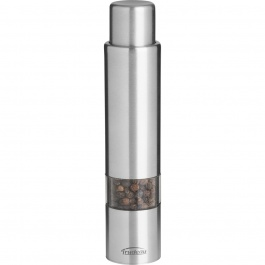 "6"" ONE-HAND STAINLESS STEEL THUMB PEPPER MILL"