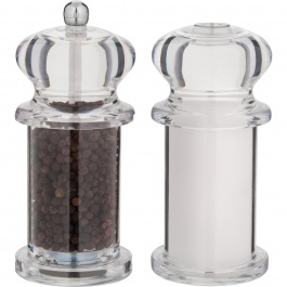 """5.5"""" TRADITION PEPPER MILL AND SALT SHAKER DUO"""