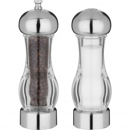 "7"" PEPPER MILL & SALT SHAKER"